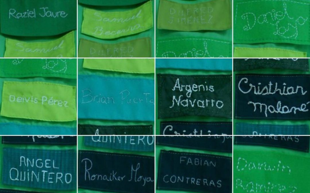 Crearon mural con nombres de pacientes que murieron en el Hospital de Niños