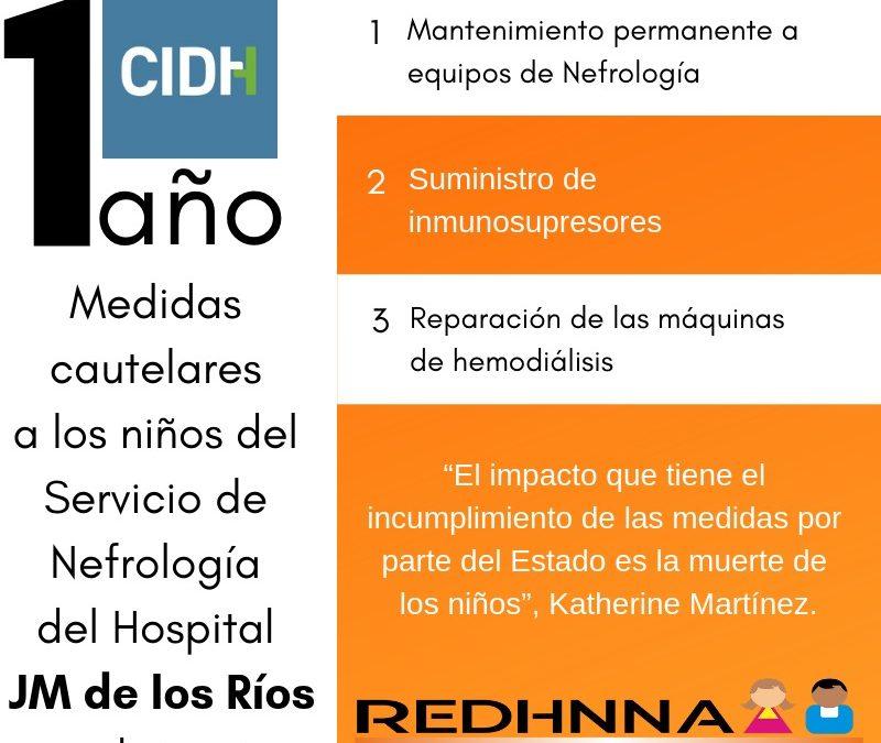 Se cumple un año del otorgamiento de medidas cautelares por la CIDH para niños del Hospital JM de Los Ríos
