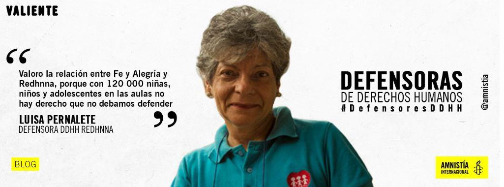 Luisa Pernalete: 30 años en la defensa del derecho a la educación de NNA