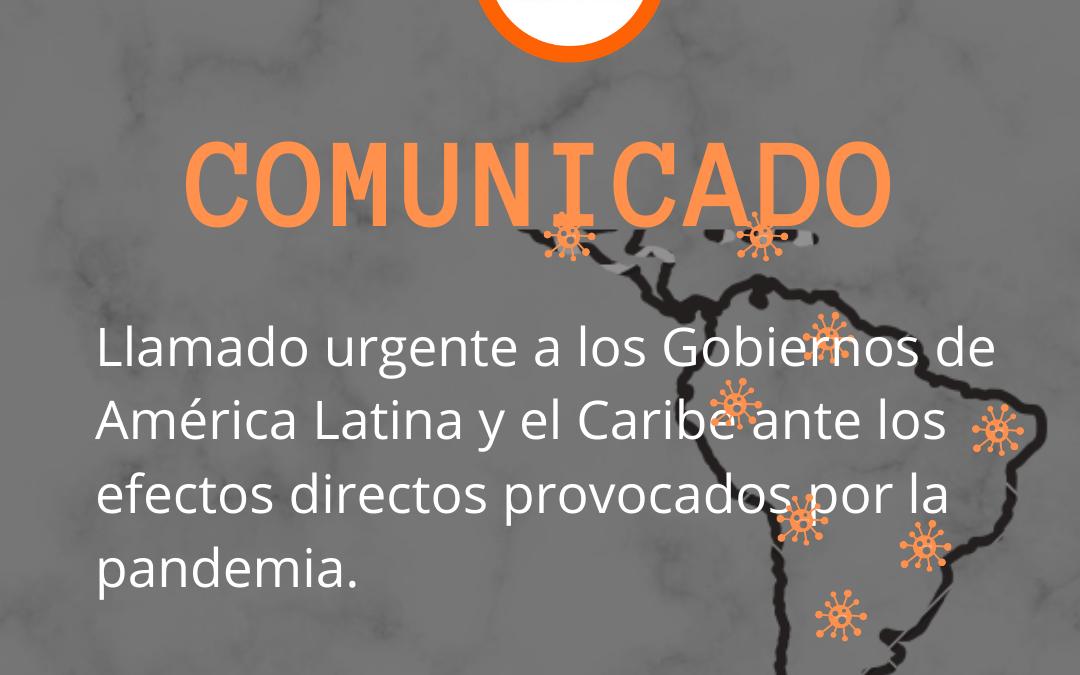 Llamado Urgente a los Gobiernos de América Latina y El Caribe