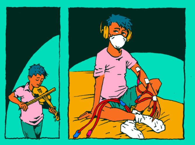 Luis sueña con recibir un trasplante y volver a tocar el violín
